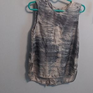Raquel Allegra Tie Dye Silk Top 0